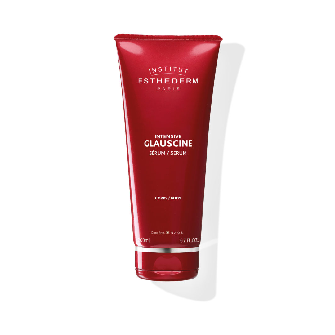 ESTHEDERM product photo, Glauscine Serum 200ml, cellulite care, firming body serum, draining and hydrating