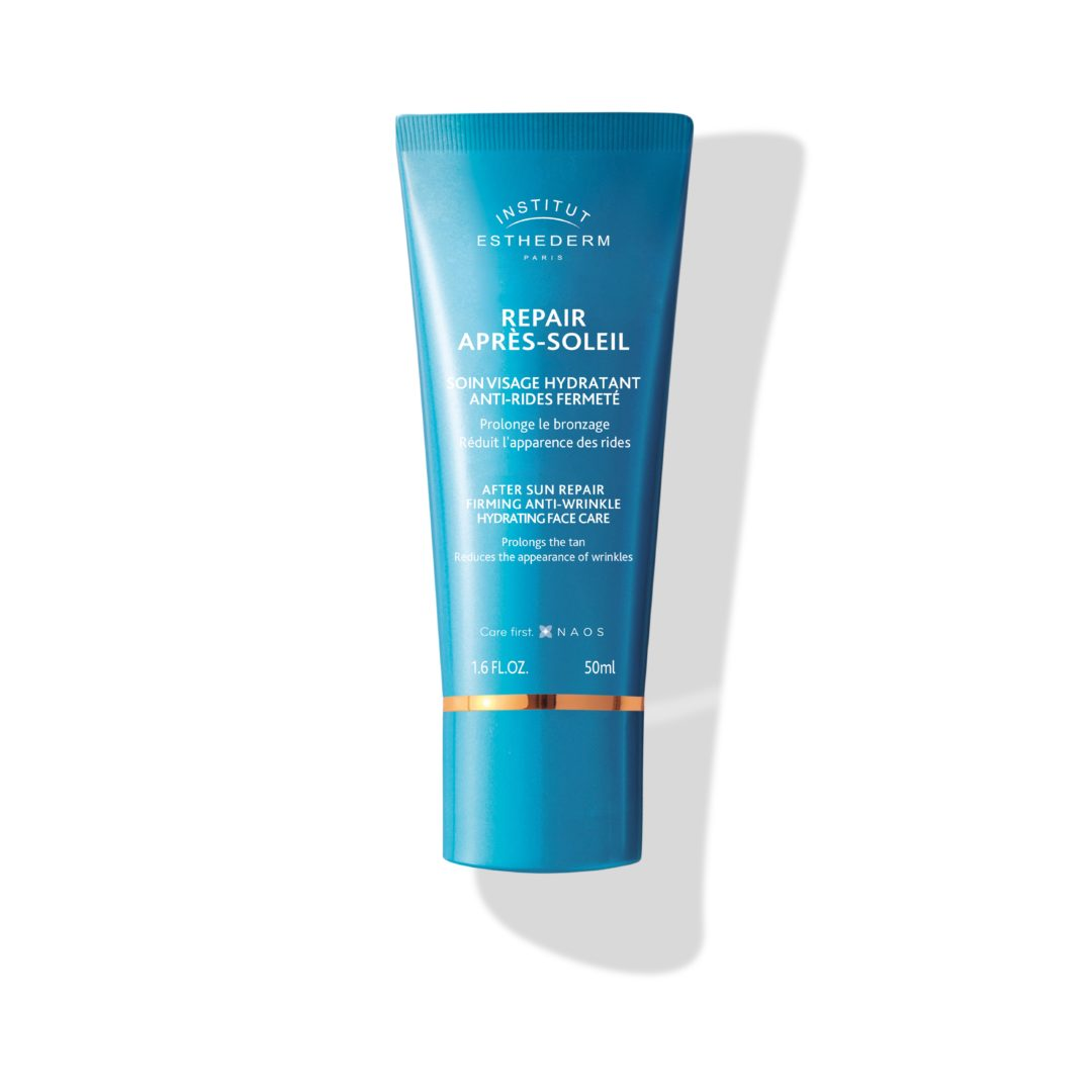 ESTHEDERM product photo, After-sun Repair for Face 50ml, anti-aging post-sun care, anti wrinkles, prolongs tan, radiance